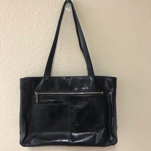 HOBO INTERNATIONAL Black Leather Tote Bag